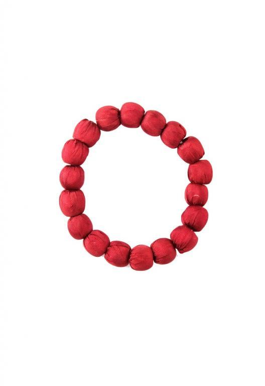 Bracelet en soie 100% naturelle et équitable, fabriqué avec des couleurs écologiques sans azoïque.